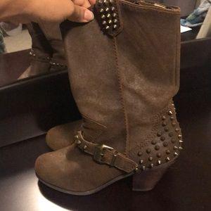 Betsey Johnson Cowboy Stud Boots